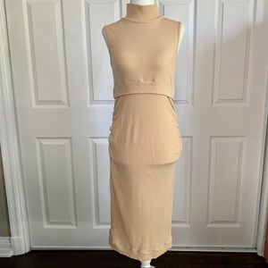 Bluebelle  Nude Maternity BodyCon Dress